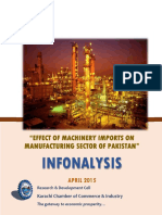 Effects of Machinery Imports on Manufacturing Sector of Pakistan - Apr 2015