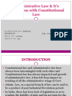 Administrative Law & It's Interaction With Constitutional Law