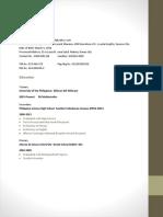 Lorenzo M. de Vera- Resume for SWS