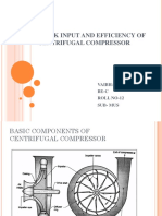 WORK INPUT AND EFFICIENCY OF CENTRIFUGAL COMPRESSOR.pptx