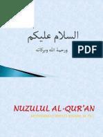 NUZUL AL QUR'AN
