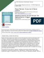 Assessing Islamist Armed Groups' de-Radicalization in Egypt - Drevon - 2015