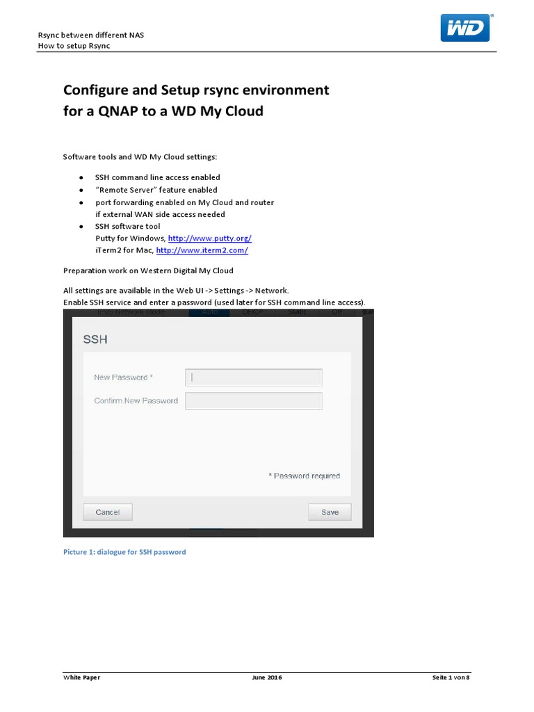 Rsync From QNAP to My Cloud HowTo | Secure Shell | Password