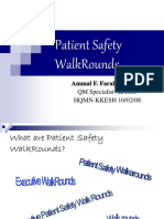 Patient Safety WalkRounds