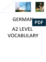 German A2 Level Vocabulary List -COMPLET