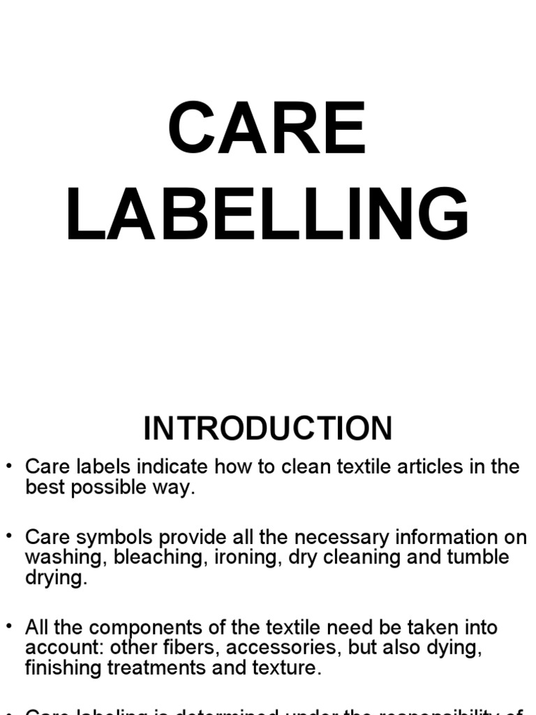 Care Labelling Clothing Business