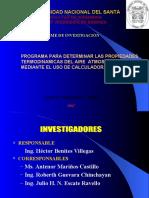 Programa Para Determinar Las Propiedades Termodinamicas