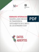 Desarrollando Innovación en Transparencia Datos Abiertos en El Marco de Los Estándares OCDE