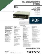 Sony Mex-bt39uw Mex-bt3900u Mex-bt3950 Sm