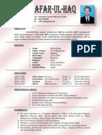 CV Zafar Ul Haq Khokhar
