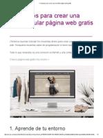 Consejos Para Crear Una Increíble Página Web