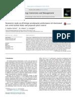 Parametric Study on Off-Design Aerodynamic Performance of a Horizontal Axis
