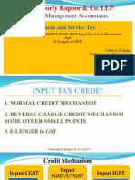 Section- 49 – CGST, SGST/UTGST, IGST Input Tax Credit Mechanism