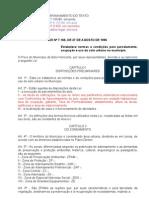Lei de Parcelamento Uso e Ocupação do Solo Consolidada