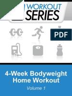4-Week Bodyweight Home Workout (Workout Series Book 1) - Arnel Ricafranca