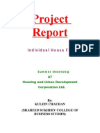 Project report hdfc bank home loan