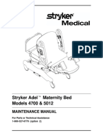 Stryker Adel 4700,512 Maternity Bed - Service Manual
