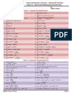 Cálculo - Tabela 02