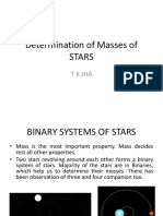 Determination of Masses of STARS