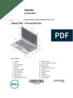 Latitude e7440 Ultrabook Setup Guide en Us