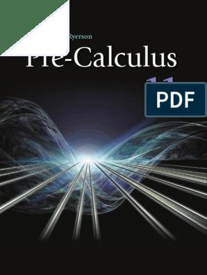 calculus pdf | Trigonometric Functions | Equations