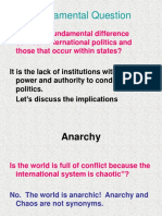 Anarchy and the Security Dilemma
