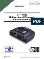 ETH-1000 January 1, 2016 User's Manual