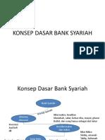 Konsep Dasar Bank Syariah