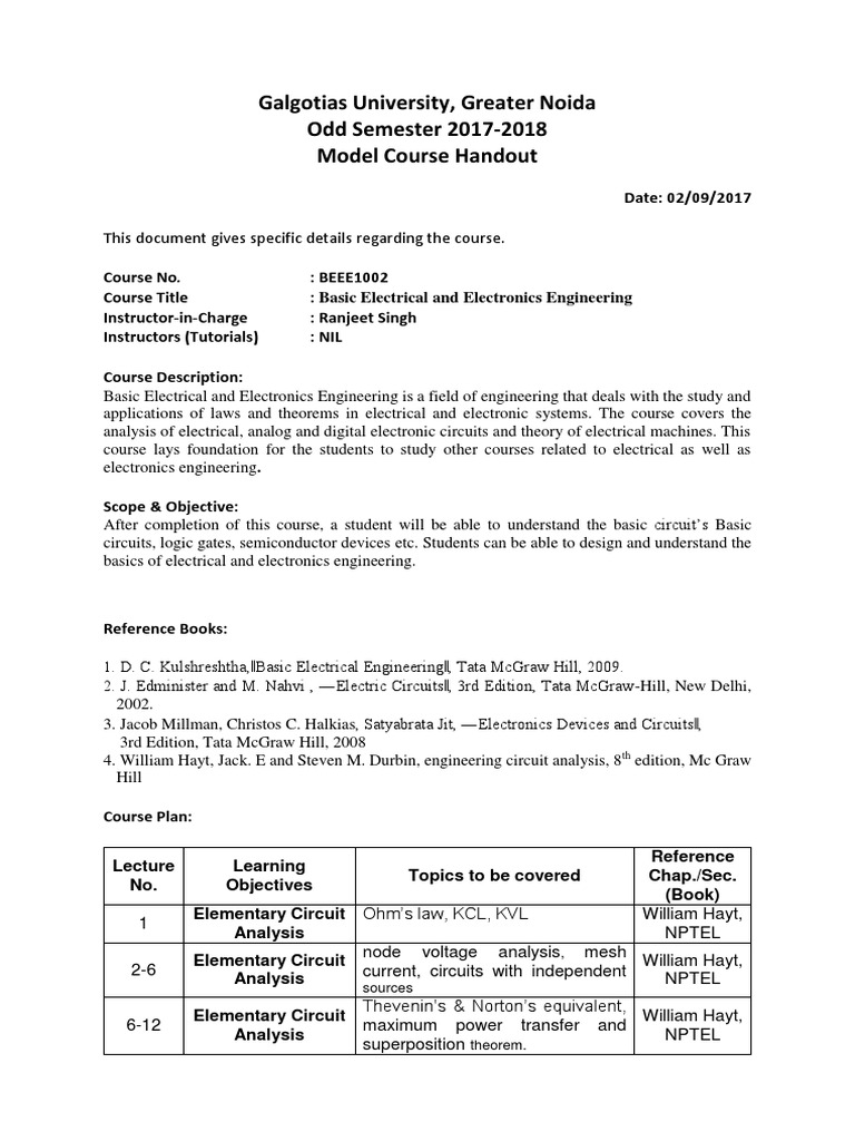 Beee1002model Handoutdocx Electrical Network Electronic Circuits And Learn About Digital Analog Circuit