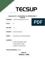 Informe N° 1 - Medicion de la presion y temperatura