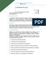 Sílabo de Gestión Ambiental - 2015-I