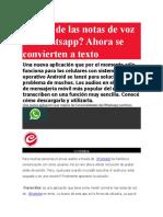 Harto de Las Notas de Voz en Whatsapp