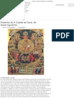 A Resenha de a Cidade de Deus, De Santo Agostinho – Filosofia e Literatura