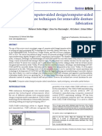 Bilgin MS, Baytaroğlu en, Erdem a, Dilber E. a Review of Computer‑Aided Designcomputer‑Aided Manufacture Techniques for Removable Denture Fabrication