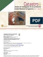 Catastro UNI 2011 2015 5 Edicion