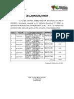 DECLARACION JURADA COMPLETA