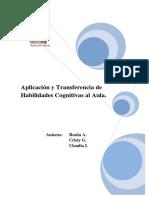 Aplicación y Transferencia de Habilidades Cognitivas Al Aula.
