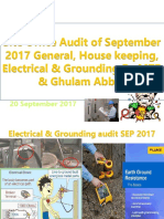 Site Office Audit,General, House Keeping, Electrical & Grounding of September 2017 by MTB Ghulam Abbas