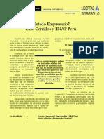 LyD Estado Empresario Caso Cerrillos y Enap Peru