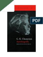 Chesterton Gilbert K - Autobiografia