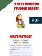 Sintesis de IV Periodo Para Estudiar Quices