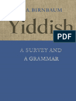 Birnbaum Yiddish Grammar