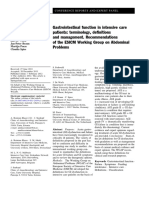 Gastrointestinal Function in Intensive Care Patients