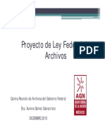 Proyecto de Ley General de Archivos