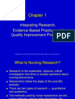 Chapter 1 - Intergrating Research EBP and Quality Mprovement