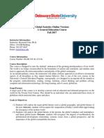 Global SocietiesOnline Syllabus Fall 2017