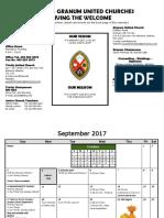working document calendar 2017-2018