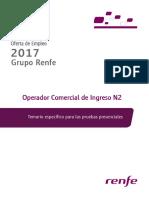 Libro para oposición a Taquillero de Renfe