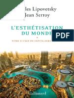 L'Esthétisation Du Monde