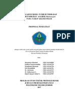 Proposal Penelitian - Aklimatisasi Anggrek